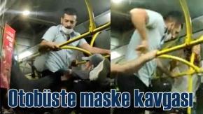 Maskesiz otobüse binen iki kişiye meydan dayağı