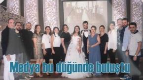 Türkiyem Batmaz  Emre Uyanık düğünü, gazetecileri buluşturdu