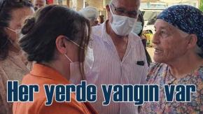 CHP Denizli Milletvekili Gülizar Biçer Karaca pazarda